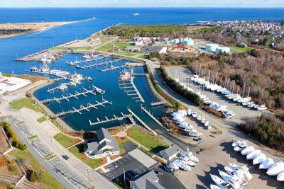 Sandwich Marina aerial view