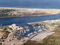 Aerial view of Sandwich Marina
