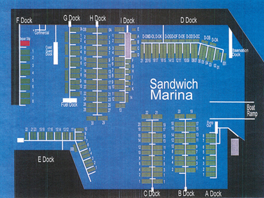 Sandwich Marina Slip Basin Map