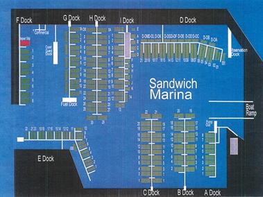 Sandwich Marina Slip Basin Map